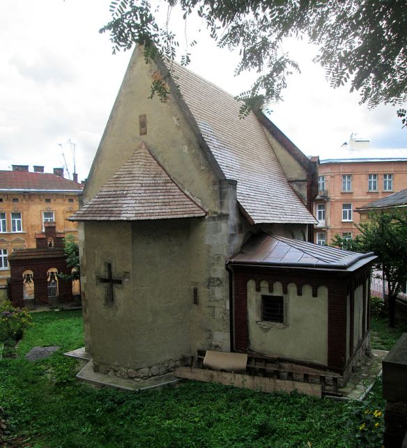 A view from the other side - the Church of St John the Baptist in Lviv