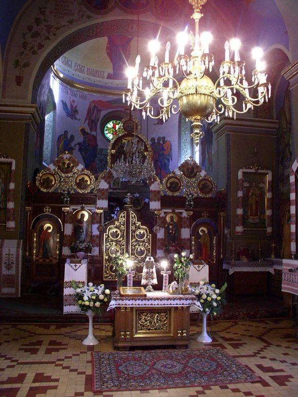 Interior of the Church of St. Nicholas in Lviv