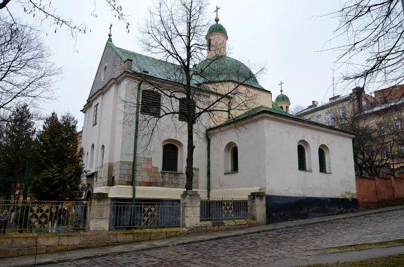 Side view - Church of St. Nicholas in Lviv