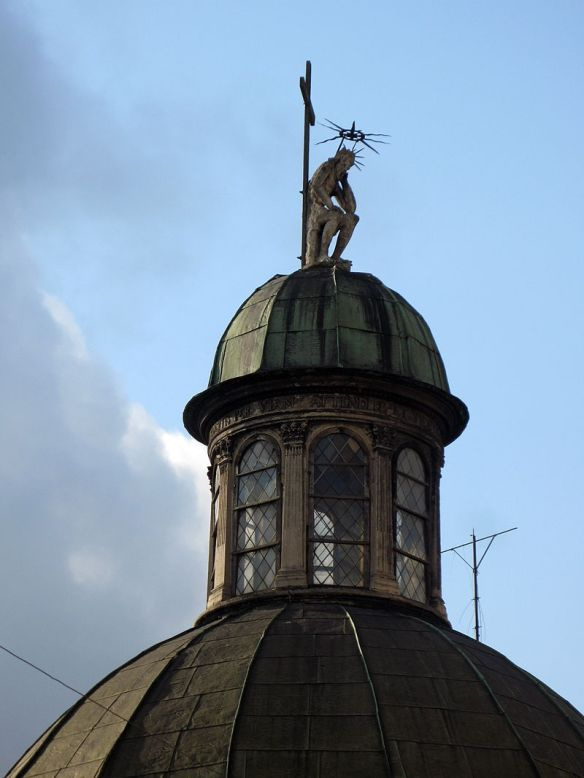 Mourning Christ atop the Boim Chapel