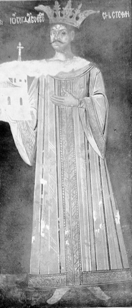 Bogdan III the One-Eyed - fresco found in St. Nicolae Domnesc Church in Iasi, Romania