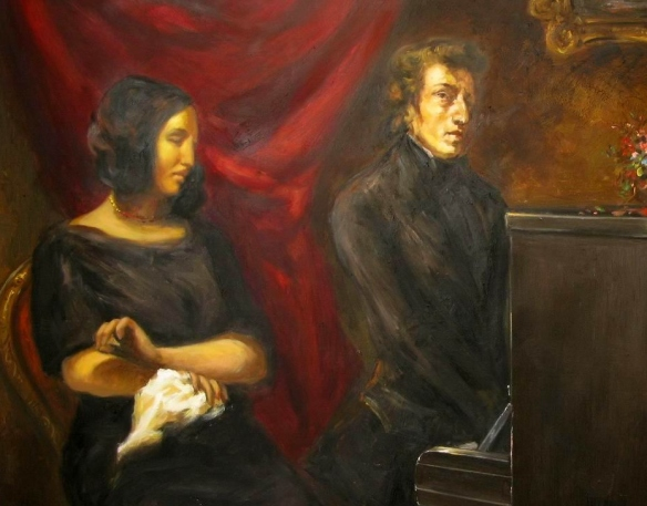 Joint portrait of Frédéric Chopin and George Sand