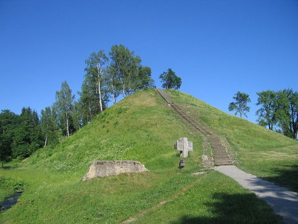 Merkine mound in southern Lithuania