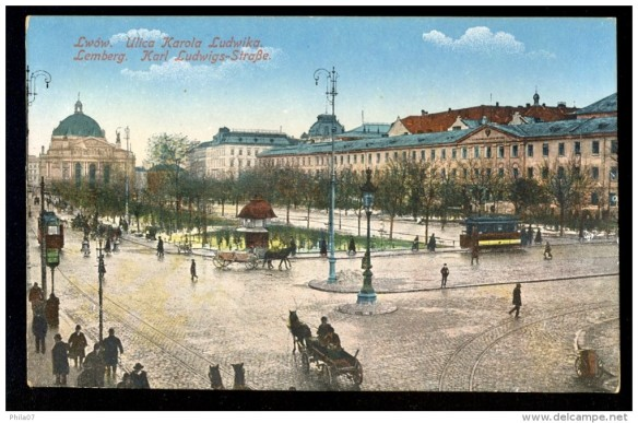 Postcard of fin de siècle Lemberg