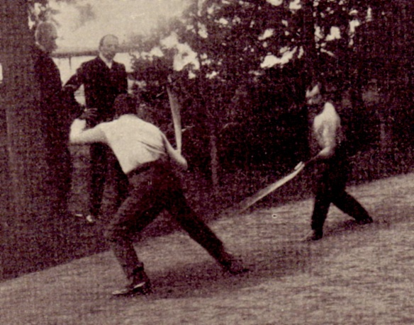Saber duels were a popular in Austria-Hungary