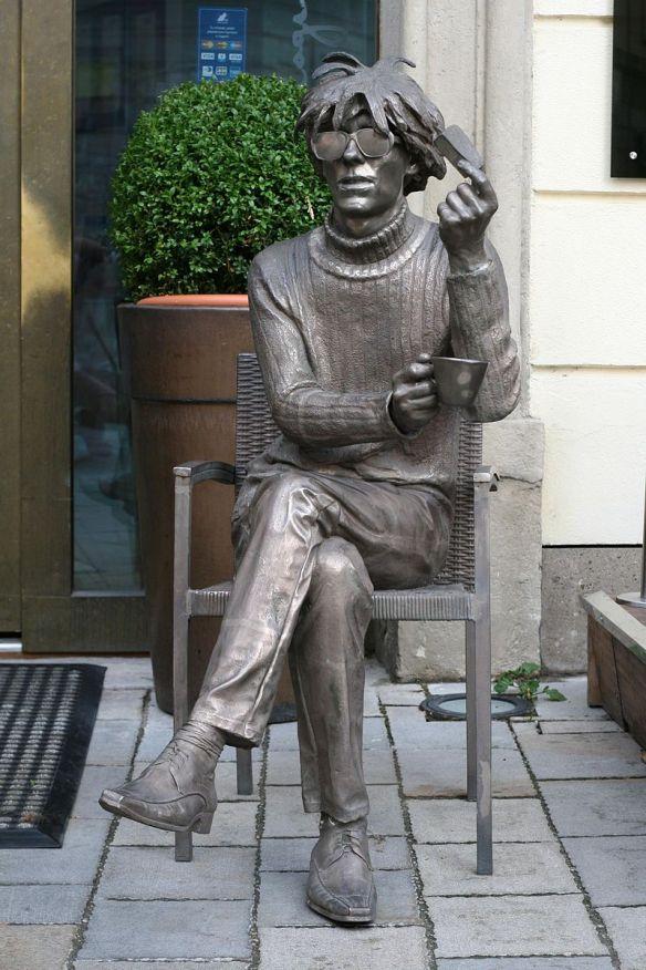 Andy Warhol statue in Bratislava, Slovakia