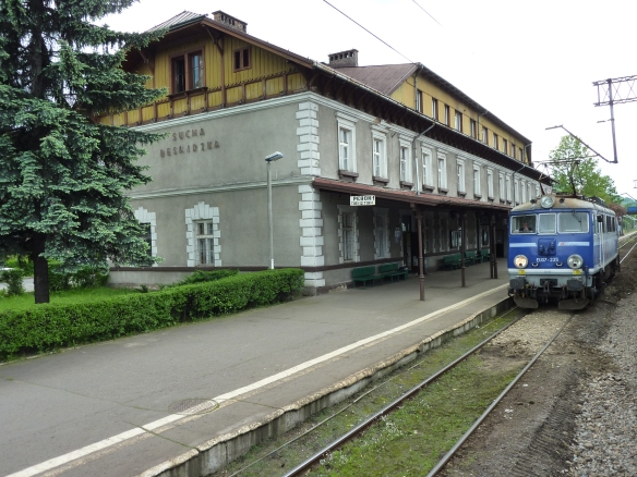 Train station in Sucha Beskidzka