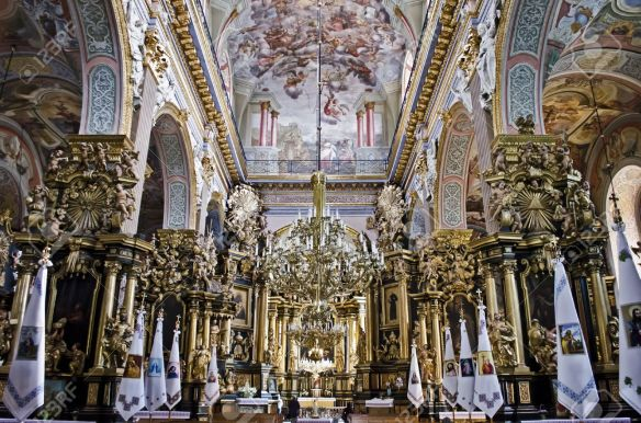 Interior of Bernadine Church in Lviv - Greek Catholic Church of St. Andrew