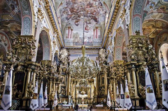 Interior of Bernadine Church in Lviv - Greek Catholic Church of St. Andrew