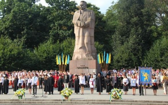 Ivan Franko - stands tallest at at Ivan Franko Park in Lviv