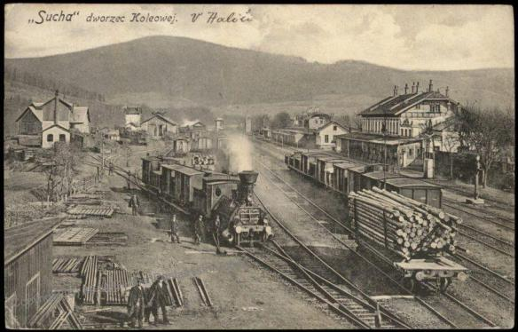 Sucha, Austria-Hungary - railway yard and station