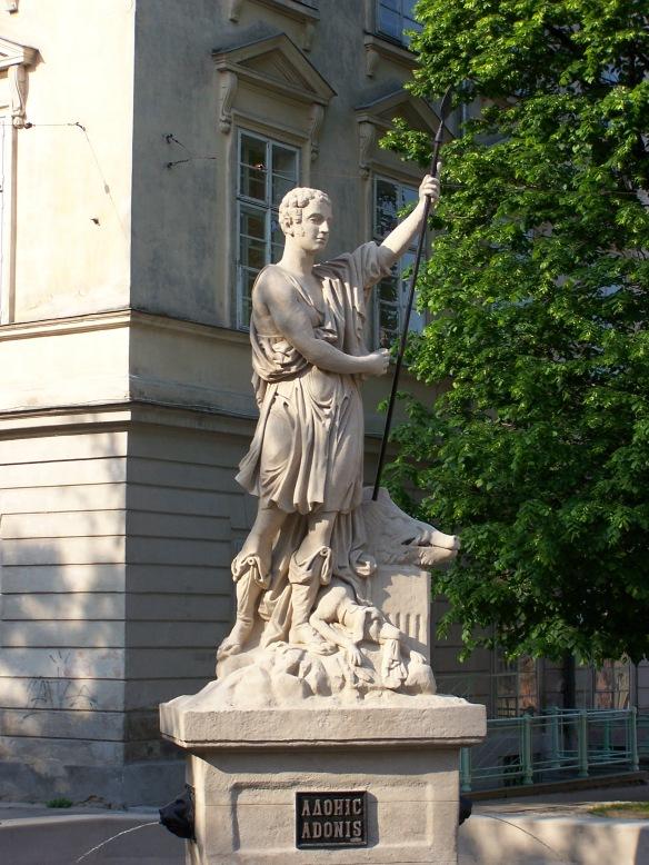 Adonis Statue at Rynok Square