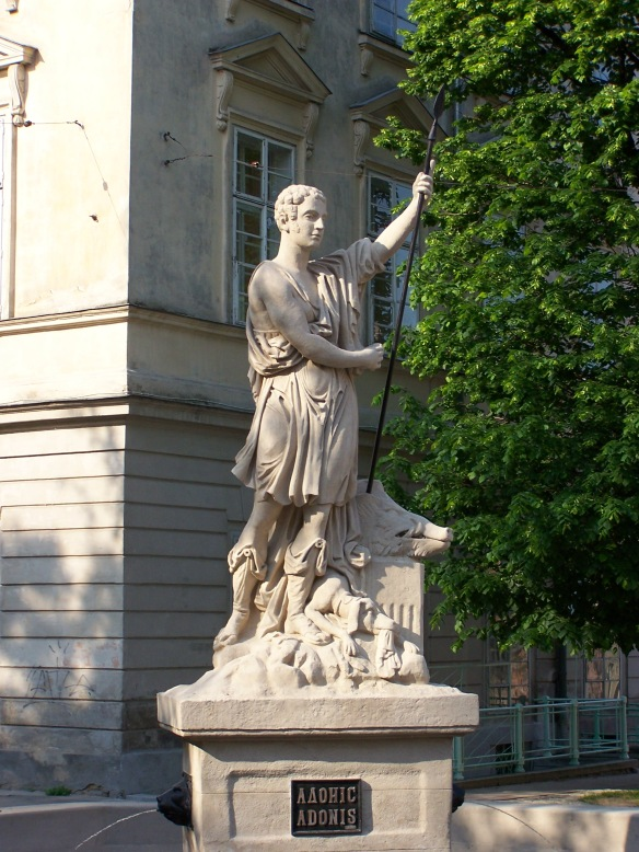 Adonis Statue at Rynok Square