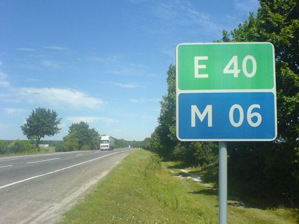 The E40/M06 highway in western Ukraine
