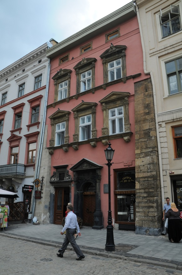 The Heppner House at Rynok 28 in Lviv