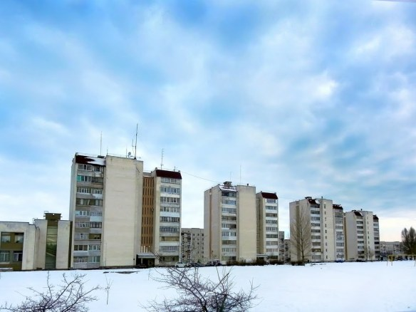 Apartment blocks in Slavutych, Ukraine