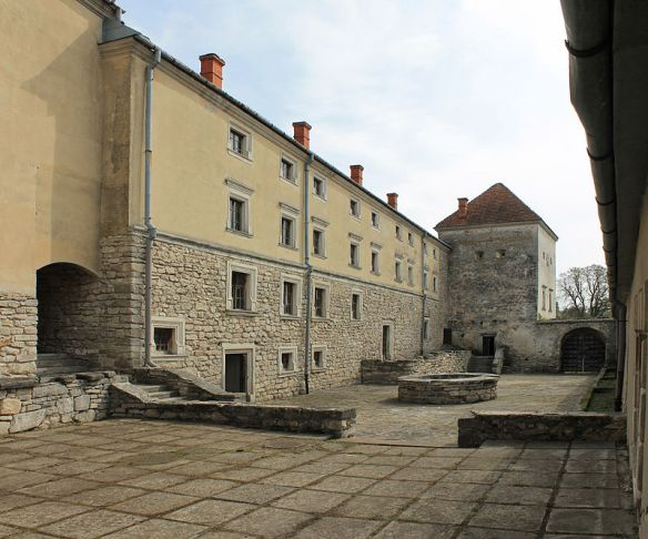 Within the walls of Svirzh castle