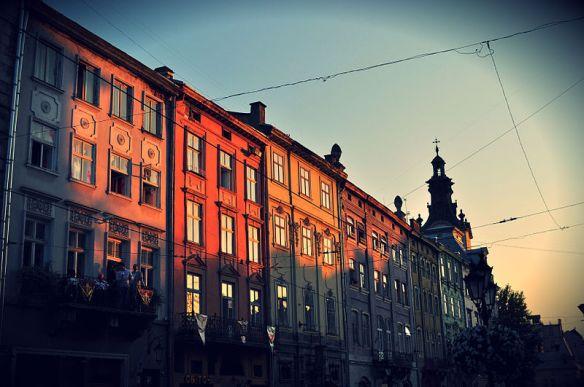 Townhouses in Lviv's Rynok Square