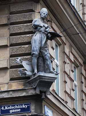 Monument to Yuriy Kulchytsky in Vienna