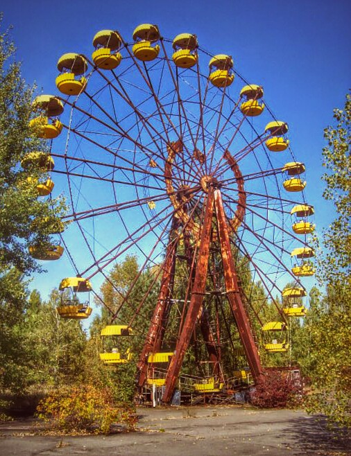 A near death experience - a ferris wheel in Pripyat's former amusement park