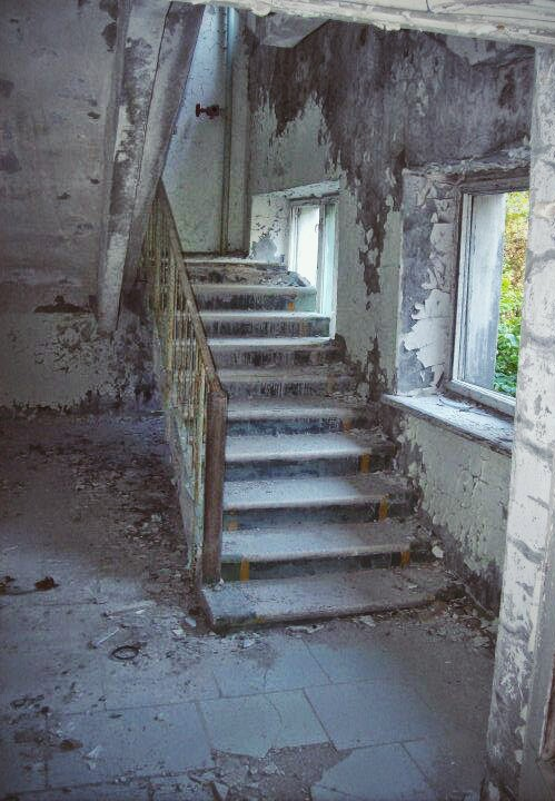 Stairway to nowhere - in Pripyat's abandoned Hotel Polissa