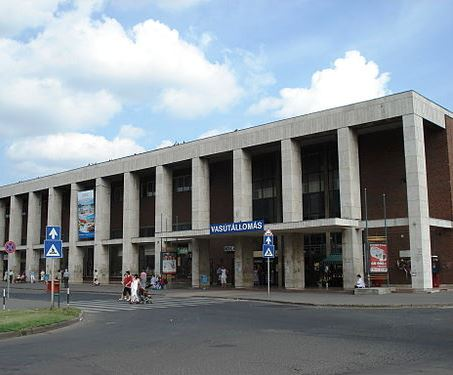 The current Debrecen Railway station
