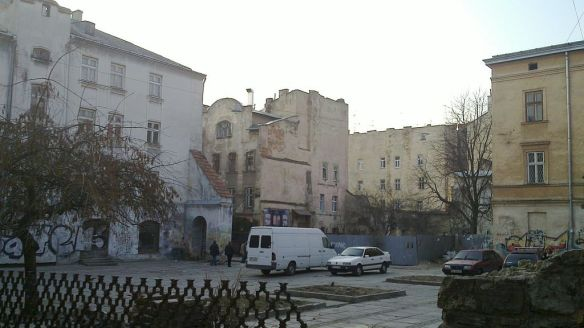 The Great Synagogue site in Lviv as it looks today