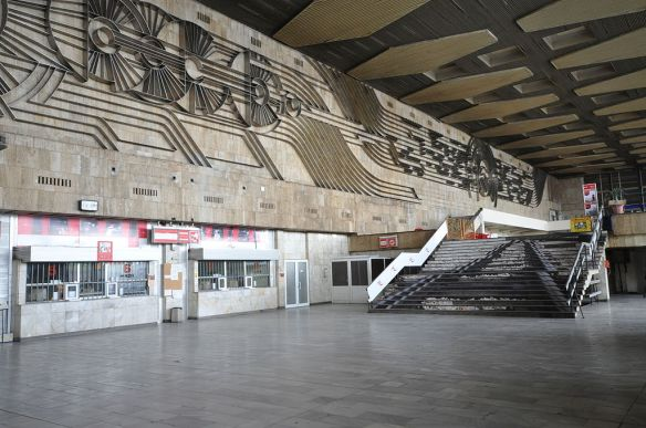 Interior of Sofia Central Station in all its emptiness