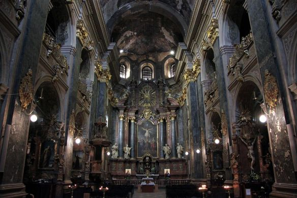 Interior of Sts. Peter & Pauls Garrison Church in Lviv