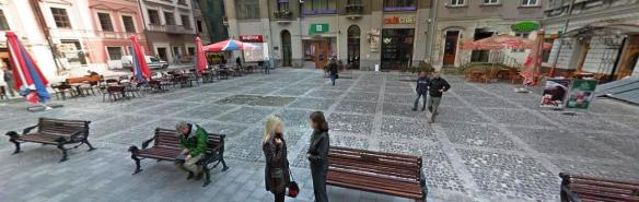 Nothing to see here - Stefana Yavors'koho Square is where the first secular monument in Lviv once stood