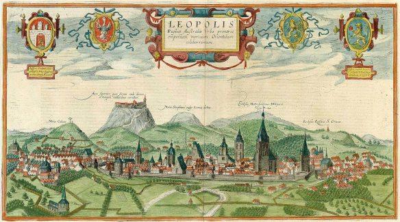 Panorama of Lviv in 1616
