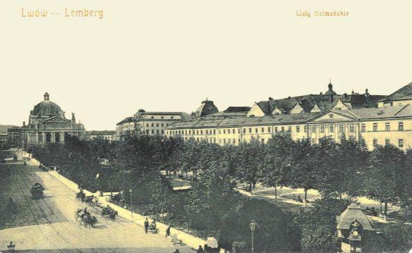 Postcard of the promenade in 1905 - present-day Prospekt Svobody