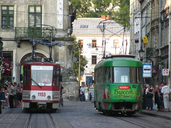 The past with the present - Lviv trams