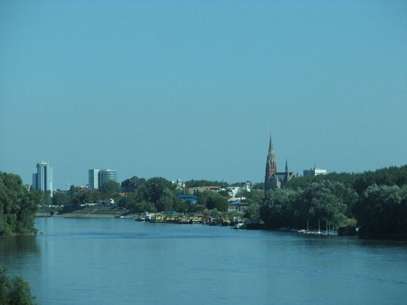 Drava River at Osijek, Croatia