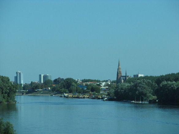 Drava River at Osijek, Croatia