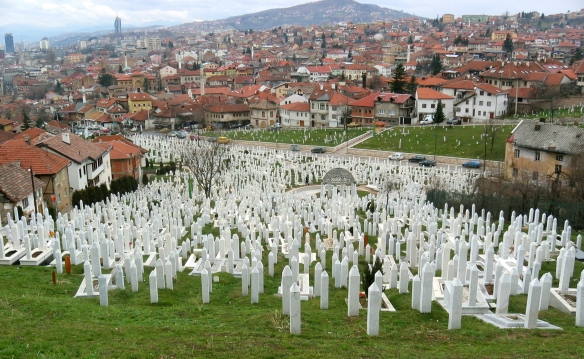 Tragic reminder - one of Sarajevo's many cemeteries