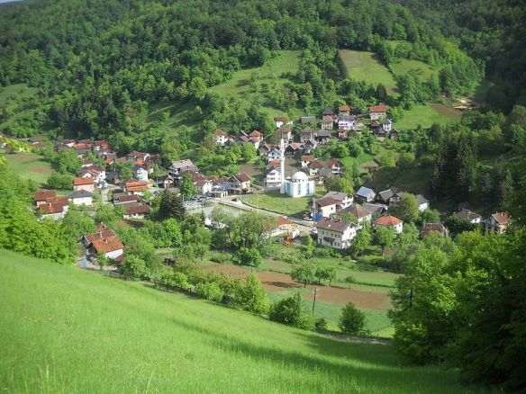 Village in the mountainous countryside of Bosnia