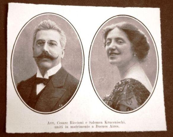 Solomiya Krushelnytska and her husband Cesare Riccioni