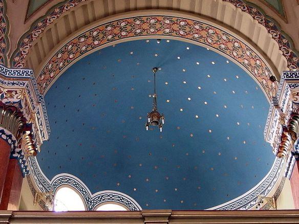 Blue Starry Sky - Ceiling At The Sofia Synagogue