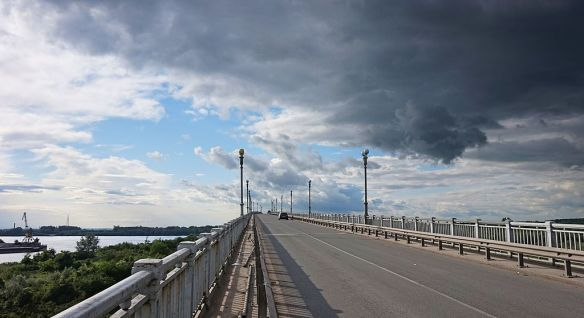 Friendship Bridge (now Danube Bridge) from Ruse, Bulgaria to Giurgiu, Romania