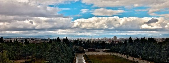 Panoramic view of Sofia as seen from the National Museum of History