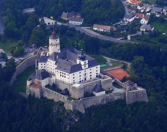 Aerial view of Forchtenstein Castle