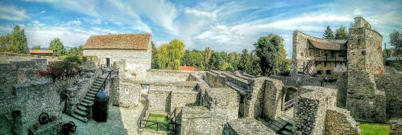 Inside the walls of Kinizsi Castle - Nagyvazsony, Hungary