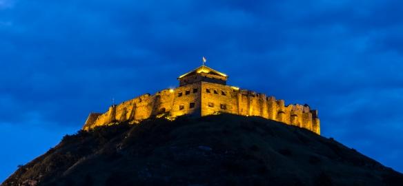 Sumeg Castle - illuminated