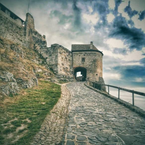 The path to Sumeg Castle