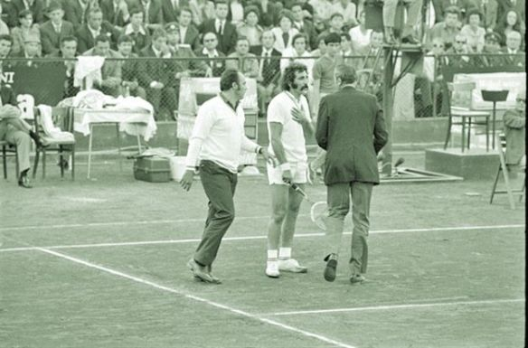 Ion Tiriac - working his subversive magic during the 1972 Davis Cup Final