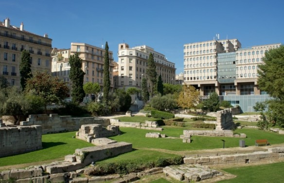 Jardin des Vestiges (Garden of Ruins) in Marseille - the last remnants of ancient Greek and Rome in the city