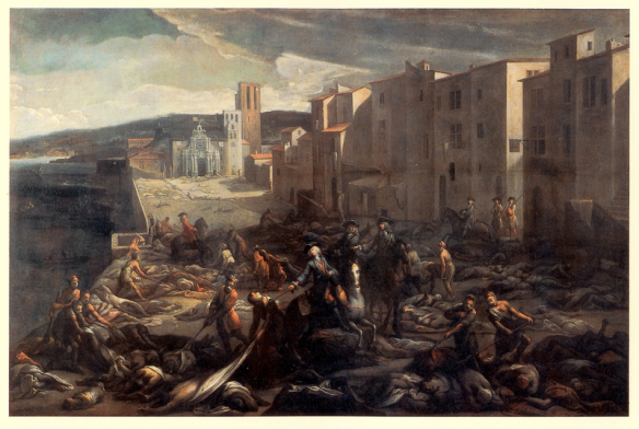 Scene of the plague in Marseilles