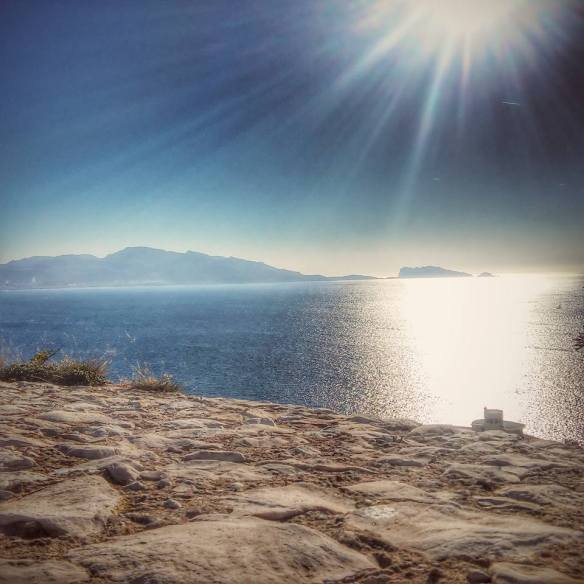 Shimmering sea - the Mediterranean close to Marseille