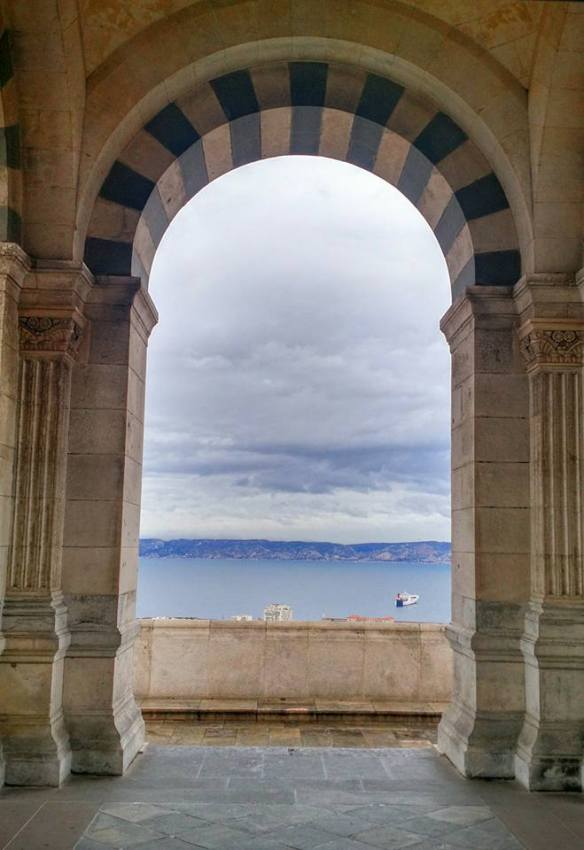 The Mediterranean as viewed from the Notre Dame de la Garde